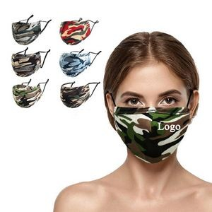 4-layer Reusable Camouflage Cotton Face Mask